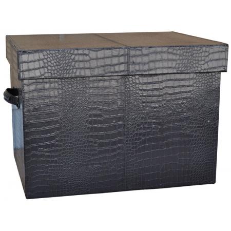 Μπαούλο-κουτί Κροκό καφέ 49x36x35εκ Sinialo 37-48-1025181DBM