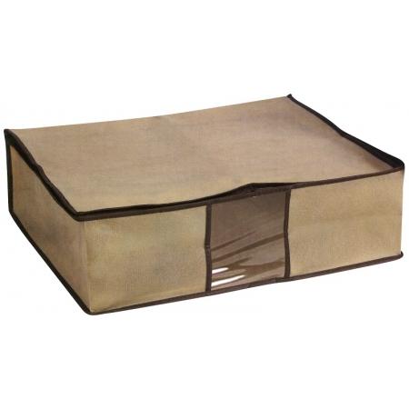 Θηκη φύλαξης 50x40x15εκ με φερμουάρ για κουβέρτες και ρούχα υφασμάτινη E-0407